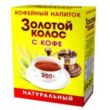 КОФЕЙНЫЙ НАП ЗОЛОТОЙ КОЛОС 200Г*20 Д/ВАРКИ КАРТОН*