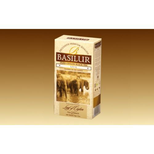 Чай чёрный листовой basilur лист цейлона ува картон 100г